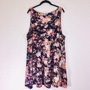 AEO Floral Shift Tank Dress